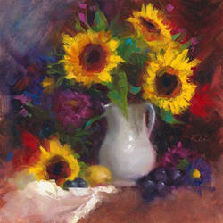 Dance with me - Still life with Sunflowers