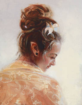 Elfin Beauty - original oil painting