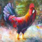 Ganzalez - rooster outside