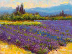 Morning Prelude - lavender lake landscape