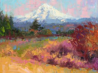 Fall Views - Mt. Hood pein air oil painting