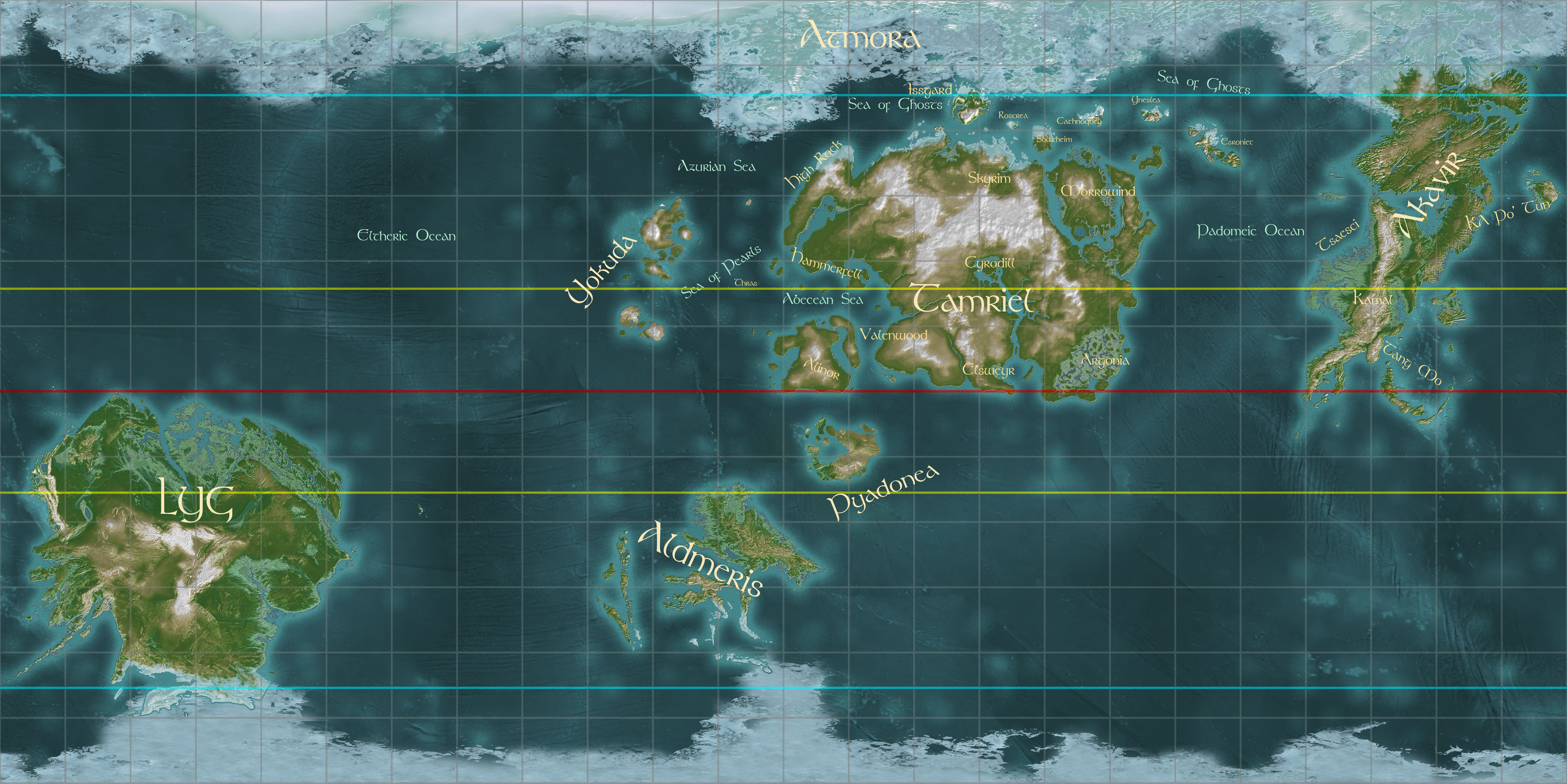 World map of Nirn | The Imperial Library