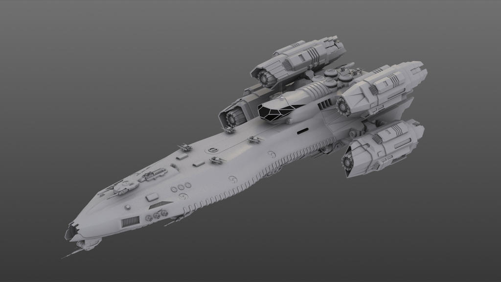 Urania Class Corvette Model Top View By N A I M A On