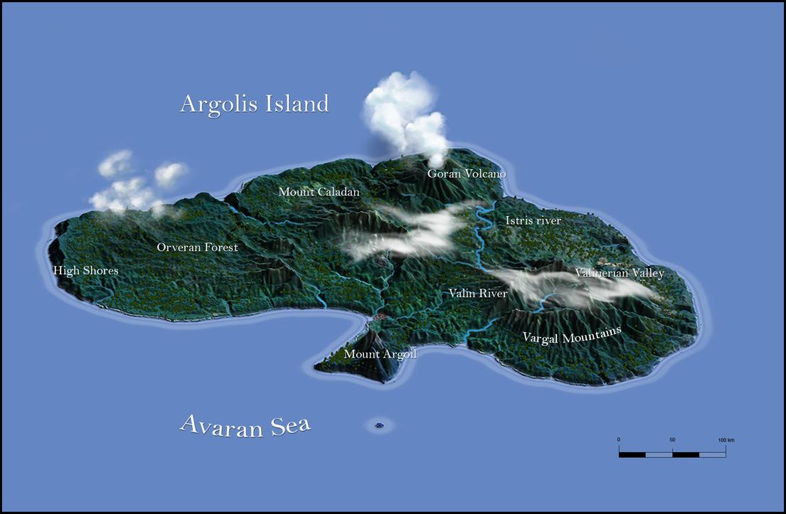 Argolis Island 3d terrain test by n-a-i-m-a