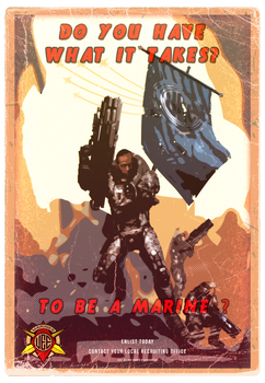 UEE Stylized Poster for the Marines