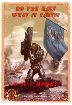 UEE Vintage Poster for the Marines
