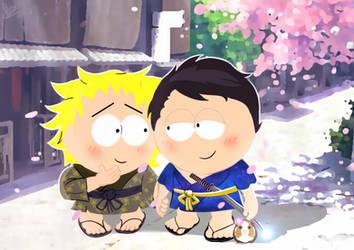 Craig and Tweek in Japan by Phinbella-Flynn