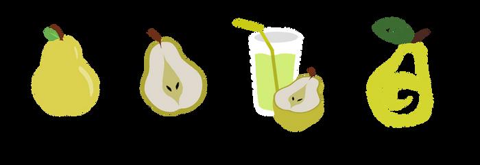 FREE Pear Cutie Marks by Acrylicpony