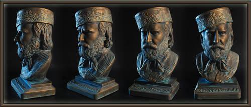 bust of Guiseppe Garibaldi by MazUsKarL