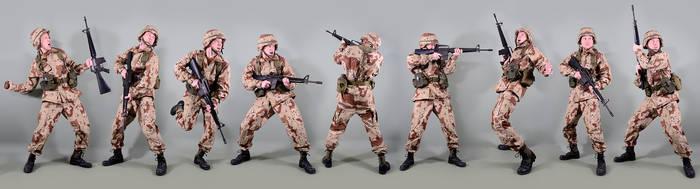 Military - uniform US soldiers Desert storm by MazUsKarL