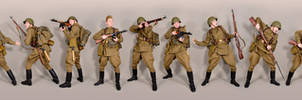 Military - uniform Soviet soldiers WW2 by MazUsKarL