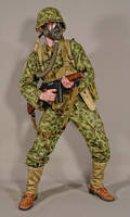 Military - uniform US soldiers WW2 USMC camo 01 by MazUsKarL