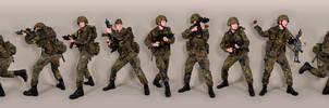 Military - uniform German soldiers flecktarn