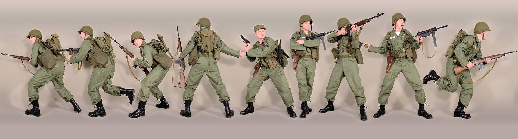 Military - uniform US soldiers utility1 50s