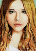 Chloe Moretz - Colour Pencils by FabianaAzevedo
