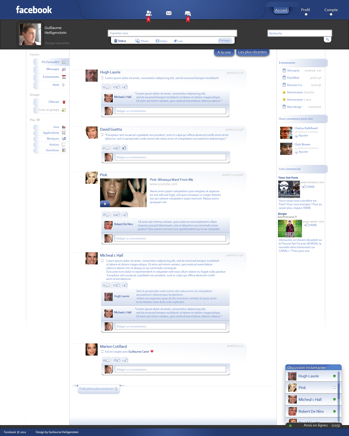 facebook ReDesign by physiks