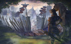 Lucian And The Mercenary Encampment by seanbianchi