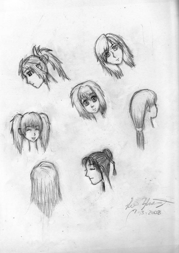 Terrific Anime Hairstyles For Girls Hairstyles For Women Draintrainus