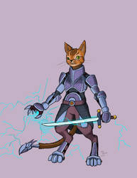Purseus Foley, Electric Knight by TomBerck