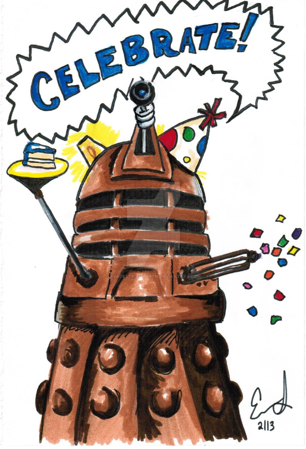 Dalek Birthday Card by EvaDestructionTM