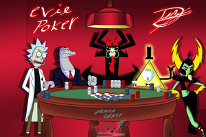 Villains evil poker game by ArtistOtter