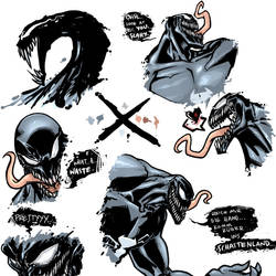 Venom Doodles by SilverCoils