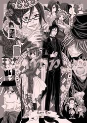 Cover-Ciel in Phantomland BW by kuso-taisa