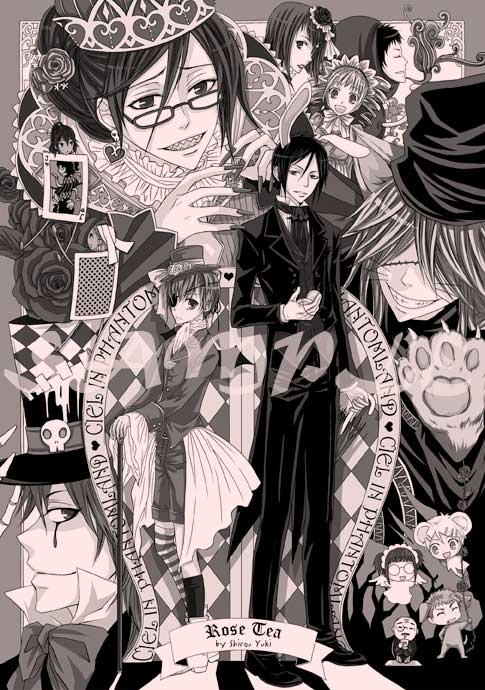 Cover-Ciel in Phantomland BW by kuso-taisa