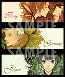 Hetalia bookmark set