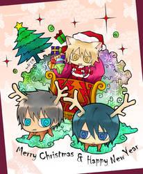 Merry Xmas-Nitro chibis ver. by kuso-taisa