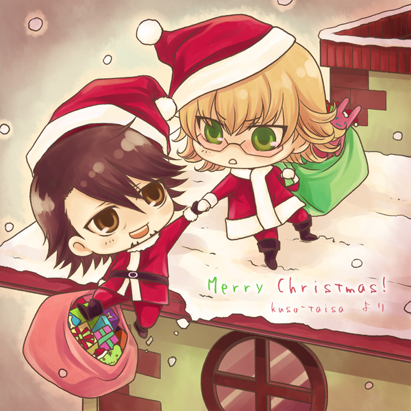 Joyeuses Fêtes  ! Merry_xmas_from_tiger_and_bunny_by_kuso_taisa-d4k0tpf