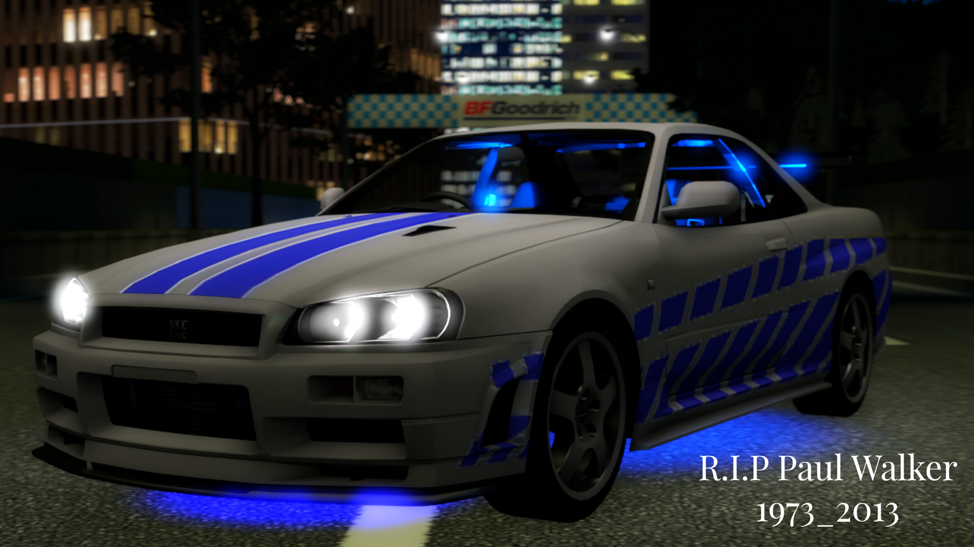Nissan Skyline Paul Walker Tribute By TheBRSteamer95