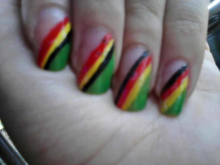 reggae nails by MorphineArt on DeviantArt