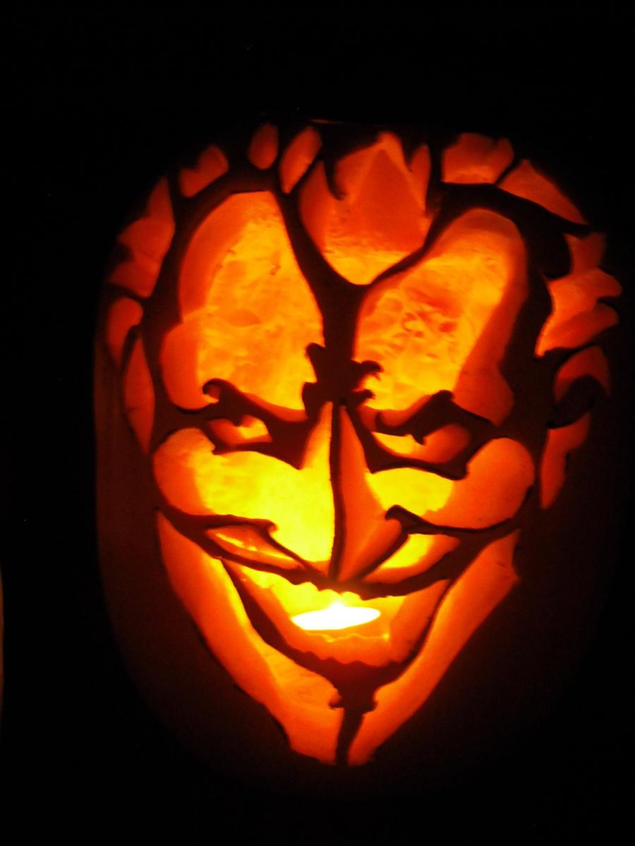 Batman Face Pumpkin Stencil Pumpkin With Batman Face Pumpkin