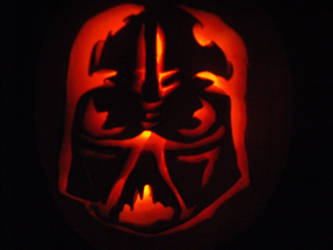 Darth Vader Pumpkin by Black-Destiny
