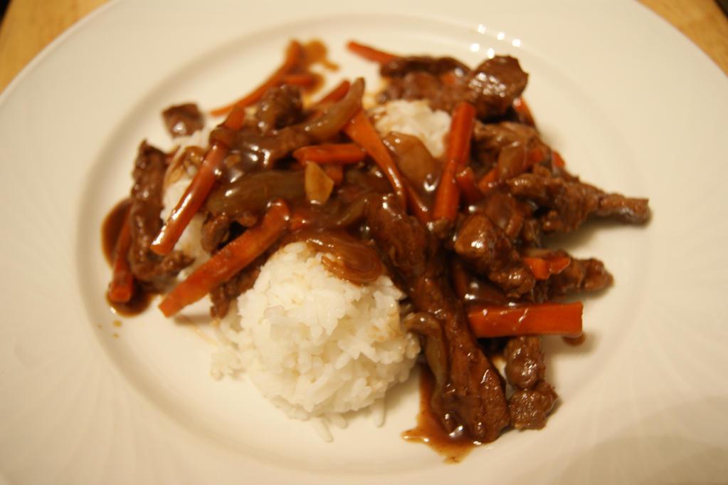 Teriyaki Beef on Rice by Black-Destiny