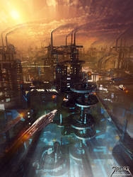 Future Cityscape 1 by jarling-art