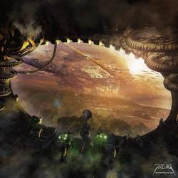 Alien Attack by jarling-art