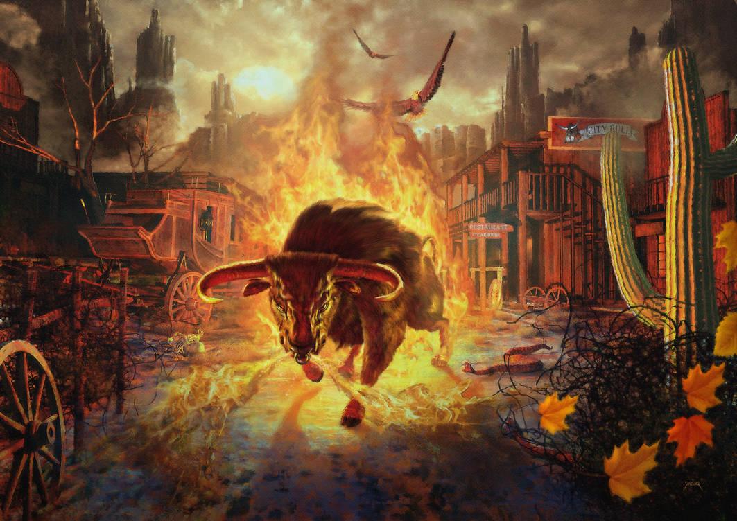 City Bull City by jarling-art