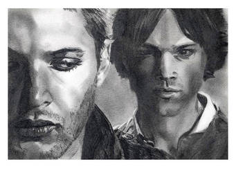 Sam and Dean by severedflesh
