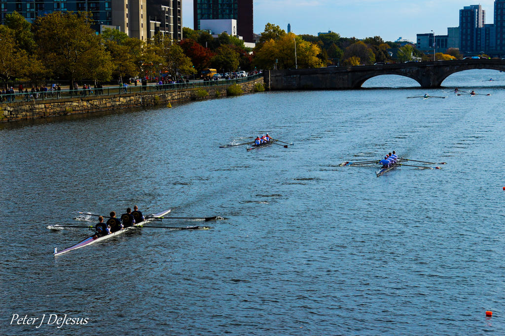 Racing on the Charles by peterjdejesus