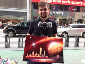 NYC: The Amazing Spray-Paint Artist by Tri10
