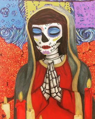 Day of the Dead (Virgin Mary) by Kobraa-Kidd