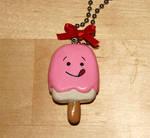 Pink Ice Cream Bar Necklace