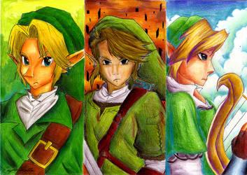 Mr Ocarina, Mr Twilight and Mr Skyward by HyliaBeilschmidt