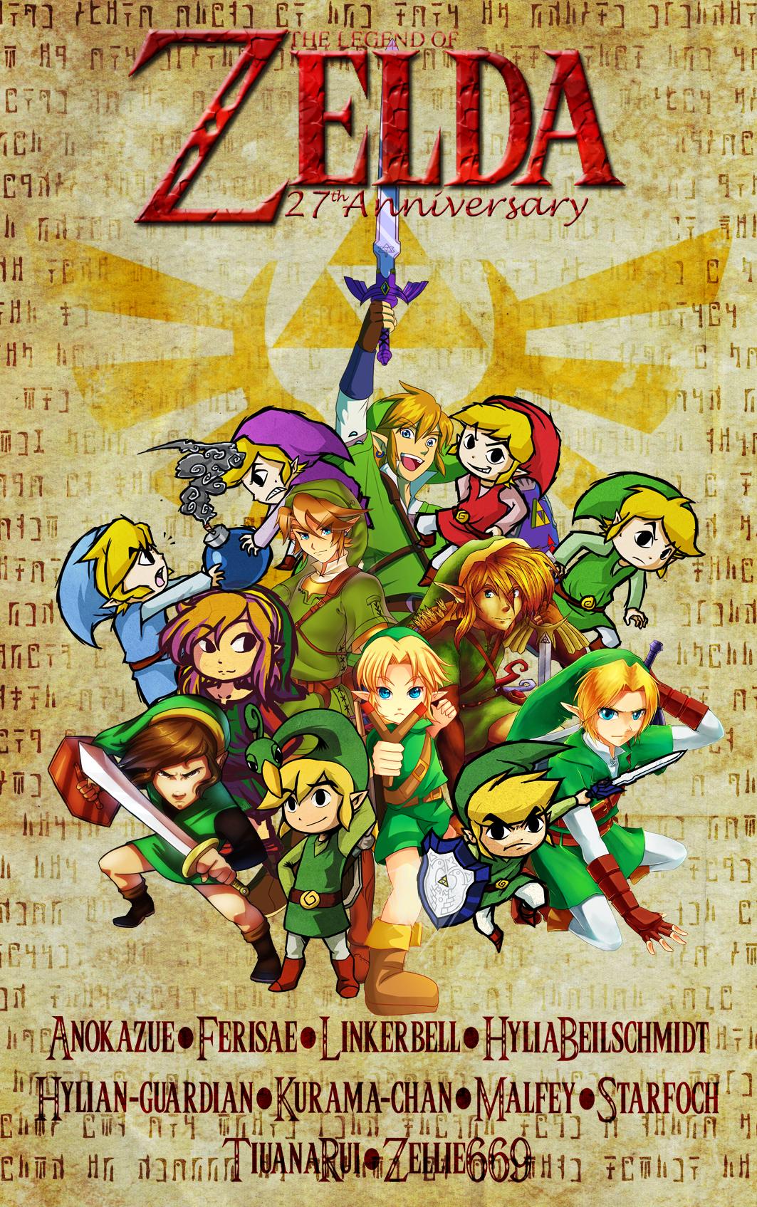 The Legend of Zelda 27th Anniversary Collab by HyliaBeilschmidt