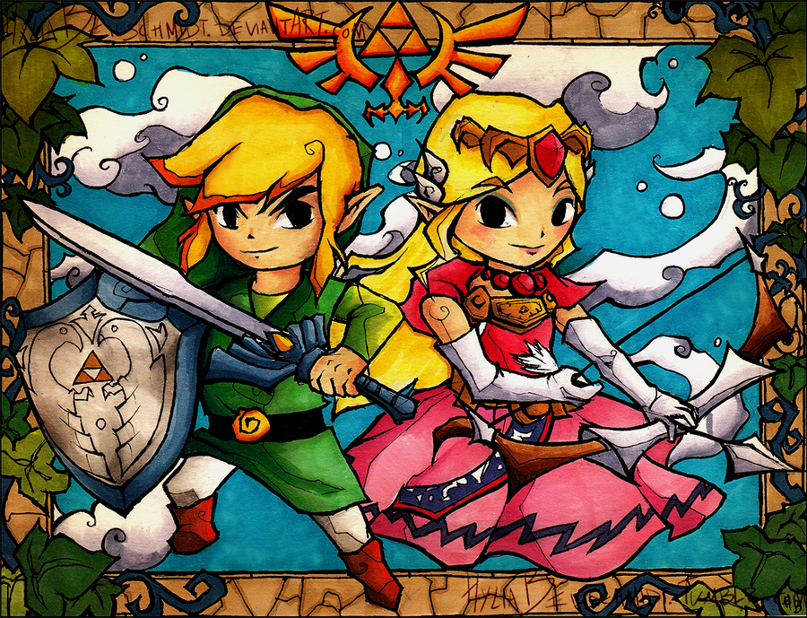 Wind Waker Stained Glass by HyliaBeilschmidt