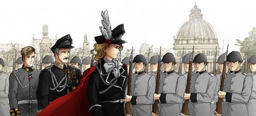 Military Parade by HyliaBeilschmidt