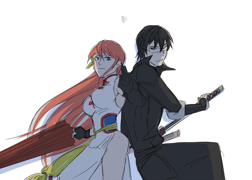 Shinpachi and Kagura by b-sugary