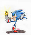 Sonic playing